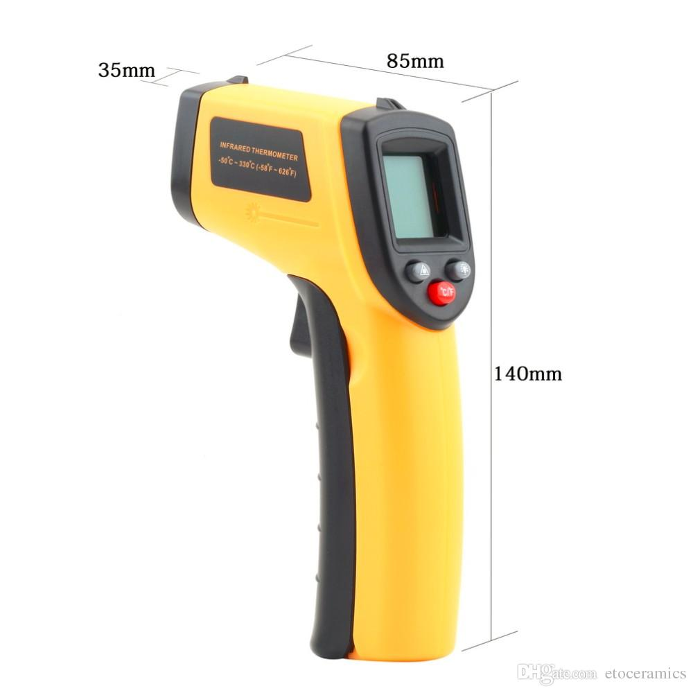 GM320 Non-Contact Laser LCD Display IR Infrared Digital C/F Selection Surface Temperature Thermometer for Industry Home Use