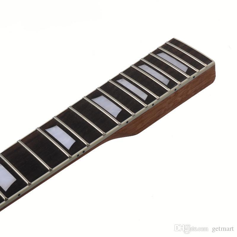 22 Fret Guitar Neck open sattin LP in mogano settore tastiera in palissandro e binding Inlay LP Sostituzione collo chitarra elettrica.