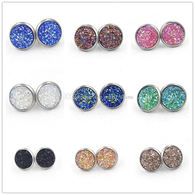 round enjoy stainless steel from time com dhgate fashion jewelry product handmade women for stud natural earrings turquoise stone
