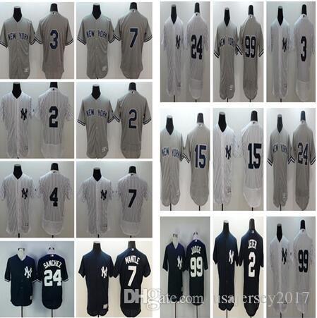 60fc7481b ... Men NYNew York Yankees Jersey 2 Derek Jeter 24 Gary Sanchez 99 Aaron  Judge 42 Mariano