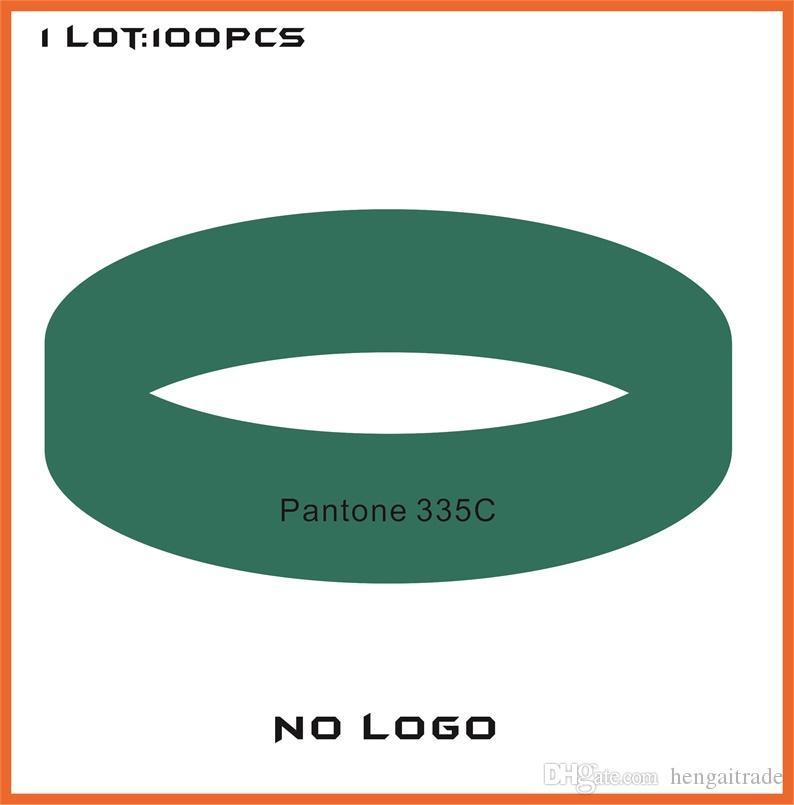 100 pçs / lote alta qualidade personalizado cor pulseiras de borracha de silicone para brindes promocionais B422