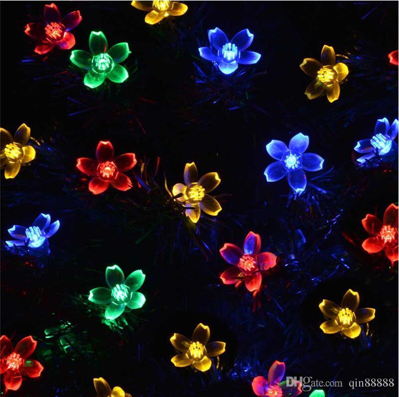 La guirlande solaire de pendant du cerise LED allume la décoration pour Noël / fête extérieure du jardin La Luce solare 50 LED