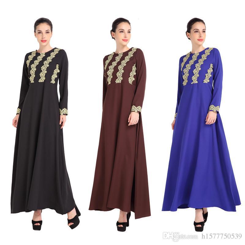 2018 Malaysia Lady Abaya Clothes Turkey Muslim Fashion ...