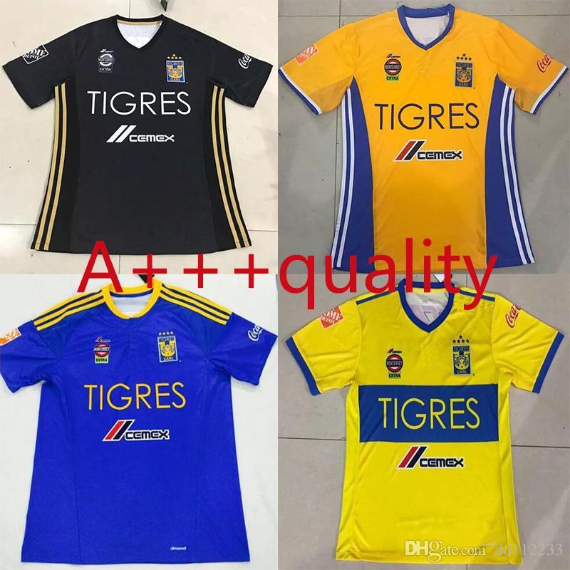 ... NEW 2017 2018 Tigres UANL soccer jerseys thai quality 1718 Tigres UANL  soccer jerseys Mexico club ... ab34936bc