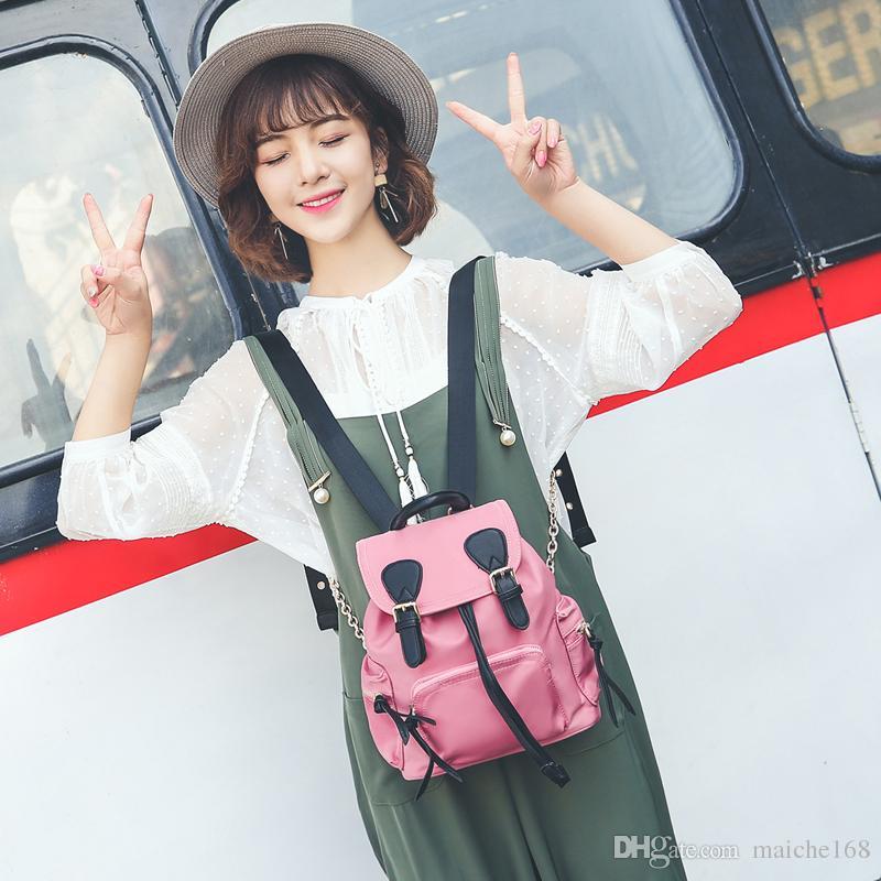 2017 new backpack parachute Oxford shoulder bag waterproof nylon travel bag