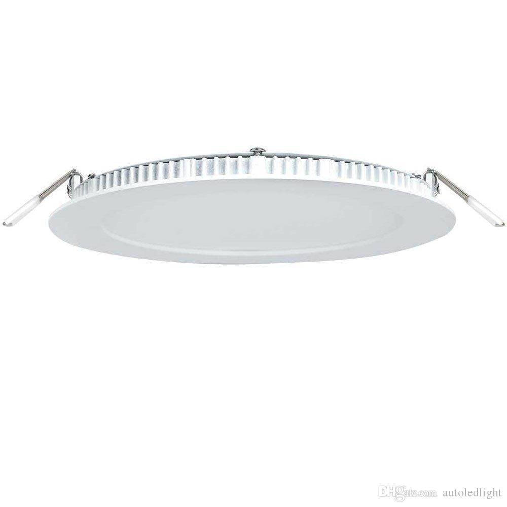 Recessed downlight LED ceiling panel lights 3w 6w 9w 12w 15w 18w panels round square indoor lighting ac85-265v