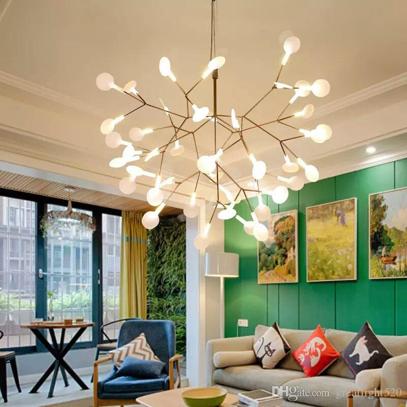 Modern Firefly Led Chandelier Acrylic Lamp Branch Ceiling