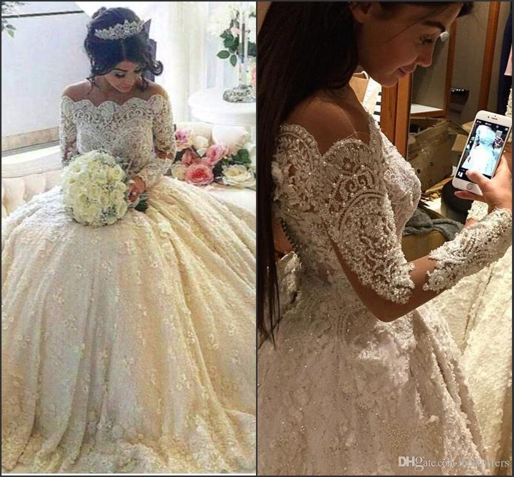 Discount Elegant Off The Shoulder Stunning Wedding Dresses