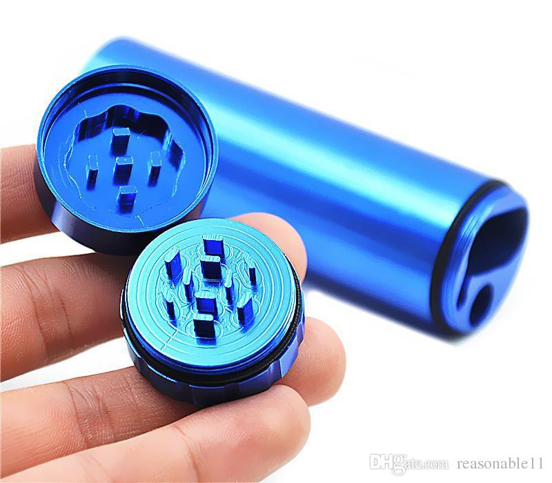 30 millimetri Pocket portasigarette espulsione automatica Panchina con supporto del metallo Grinder alluminio composito portasigarette Box Carrier