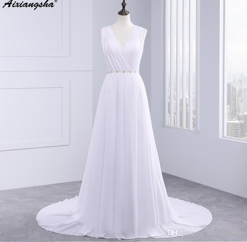 Greek Style Wedding Dresses | Dress Bride Ivory Chiffon Open Back 2016 Greek Style Vestidos