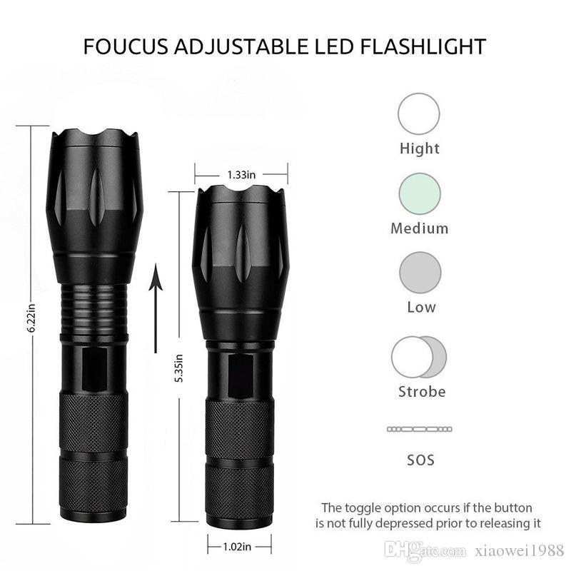 LED bitianteam 5W Q5 Mini Flashlight Linternas 1300 Lumens Zoom In & Out Lights Searchlight Flash Lights