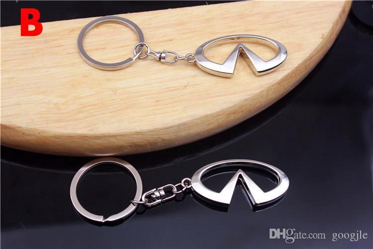 For INFINITI Car Logo Keychain Key Rings Auto Key Parts Holder Car Emblem Styling For Infiniti Q50 FX35 FX FX37 G37 G35 Keyring