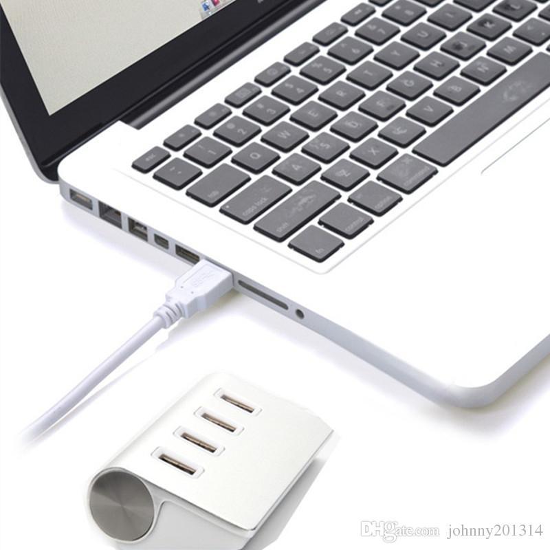 Nouveau design Mini concentrateur USB 3.0 à haute vitesse en aluminium haute qualité 4 ports - Silver Hub USB Splitter USB