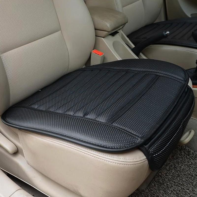 PU Leather Bamboo Strips Charcoal Cushion Car Seat Cover Four Seasons General Monolithic Summer Slip Mat Car Seat Cushion