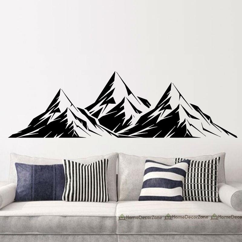 cool graphics vinyl wall decal mountains room decoration home decor