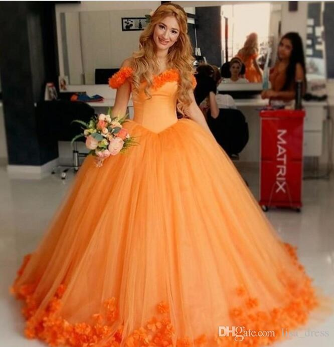 Latest Beautiful Orange Quinceanera Dresses 2017 Sweetheart Backless ...
