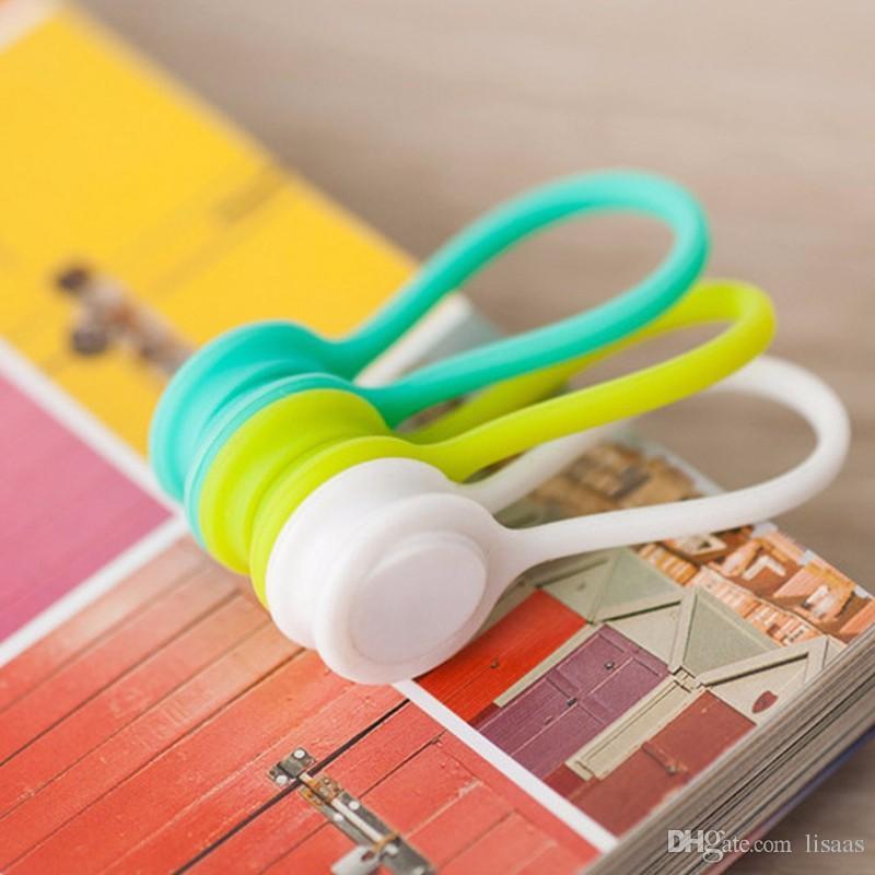 Silikon Magnetspule Kopfhörer Kabelaufwicklung Typ Bobbin Winder Hubs Kabelhalter Kabel Draht Veranstalter für iPhone xiaomi 500 ps /