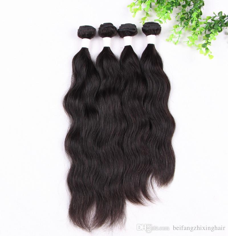 Grade 7A!!! 100% Human Hair Weave Natural Wave Hair Double Weft No Shedding No Tangle Durable / dhl free
