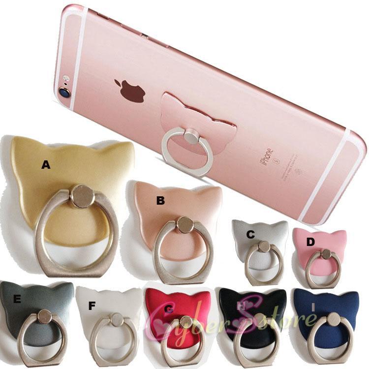 360 ° Halka Parmak Akıllı Telefonlar Cep Telefonu iphone 11 artı Samusng S8 S10 note10 için Parantez Tutucu parmak kavrama Standı