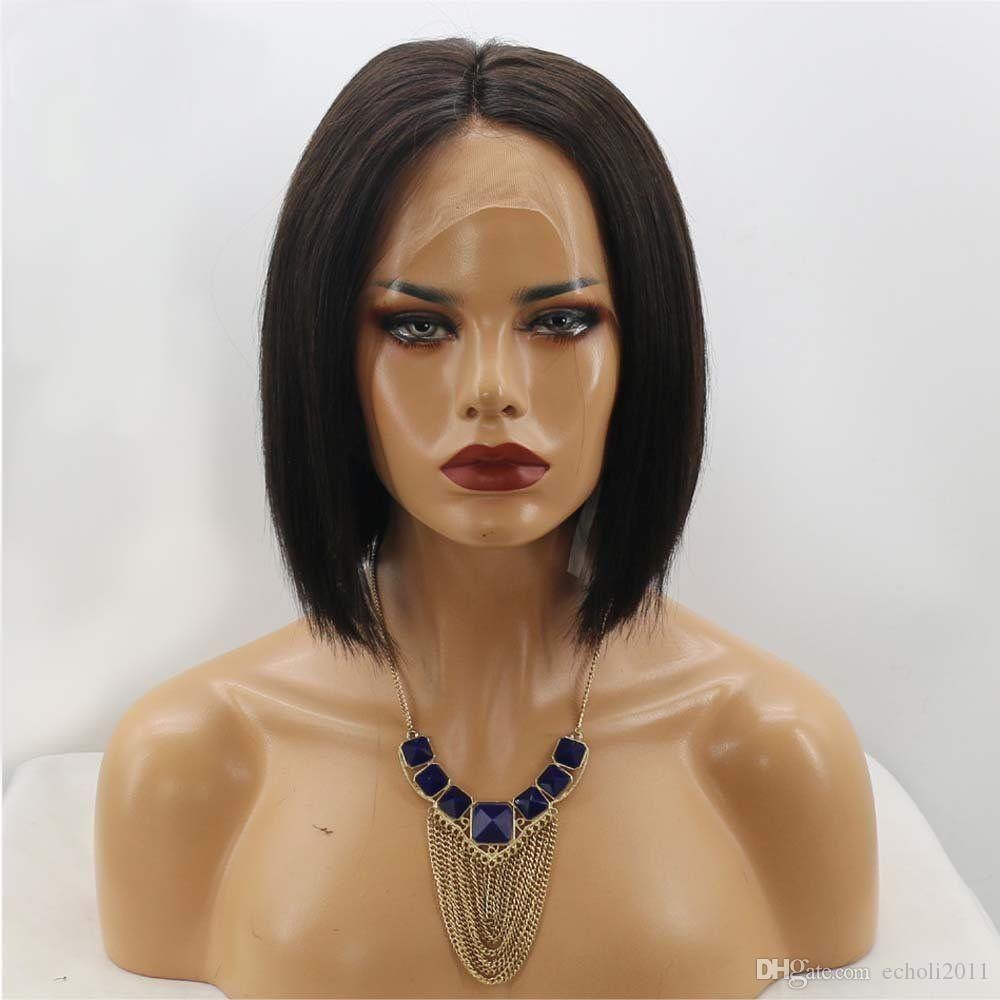 Diva Real blunt bob cut human hair 13x6 lace frontal wig short bob cut brazilian hair lace front wigs for black women