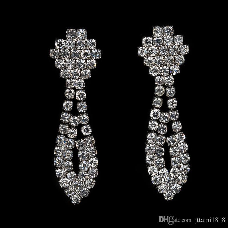2017 vendita calda argento placcato set di gioielli di alta qualità insieme dei monili le donne weding regalo orecchini collana all'ingrosso