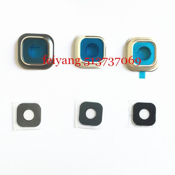 Yapışkan için Samsung GALAXY NOT 5 N9200 N920F ile% 100 Orijinal New Back Kamera Cam Lens + Çerçeve Konut Kapak Kılıf