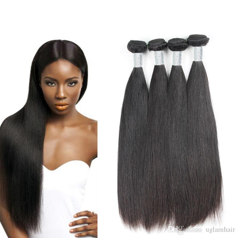 4 Seasons Beauty Straight Soft Human Hair Weave Uglam Hair 4 Bundles