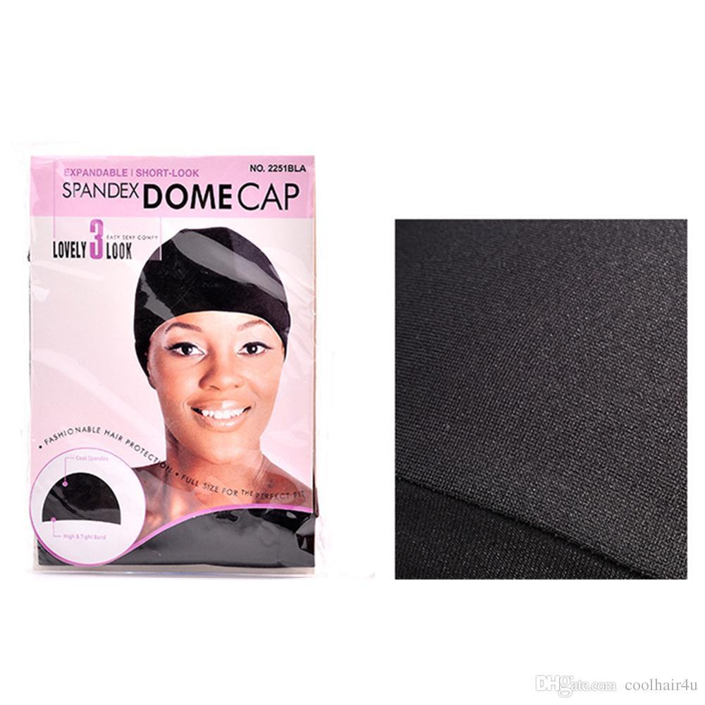 12 adet / grup Peruk Yapımı için Hairnet Spandex Kubbe Cap Snood Naylon Strech Peruk Tutkalsız Elastik Kap Ultra Streç Caps