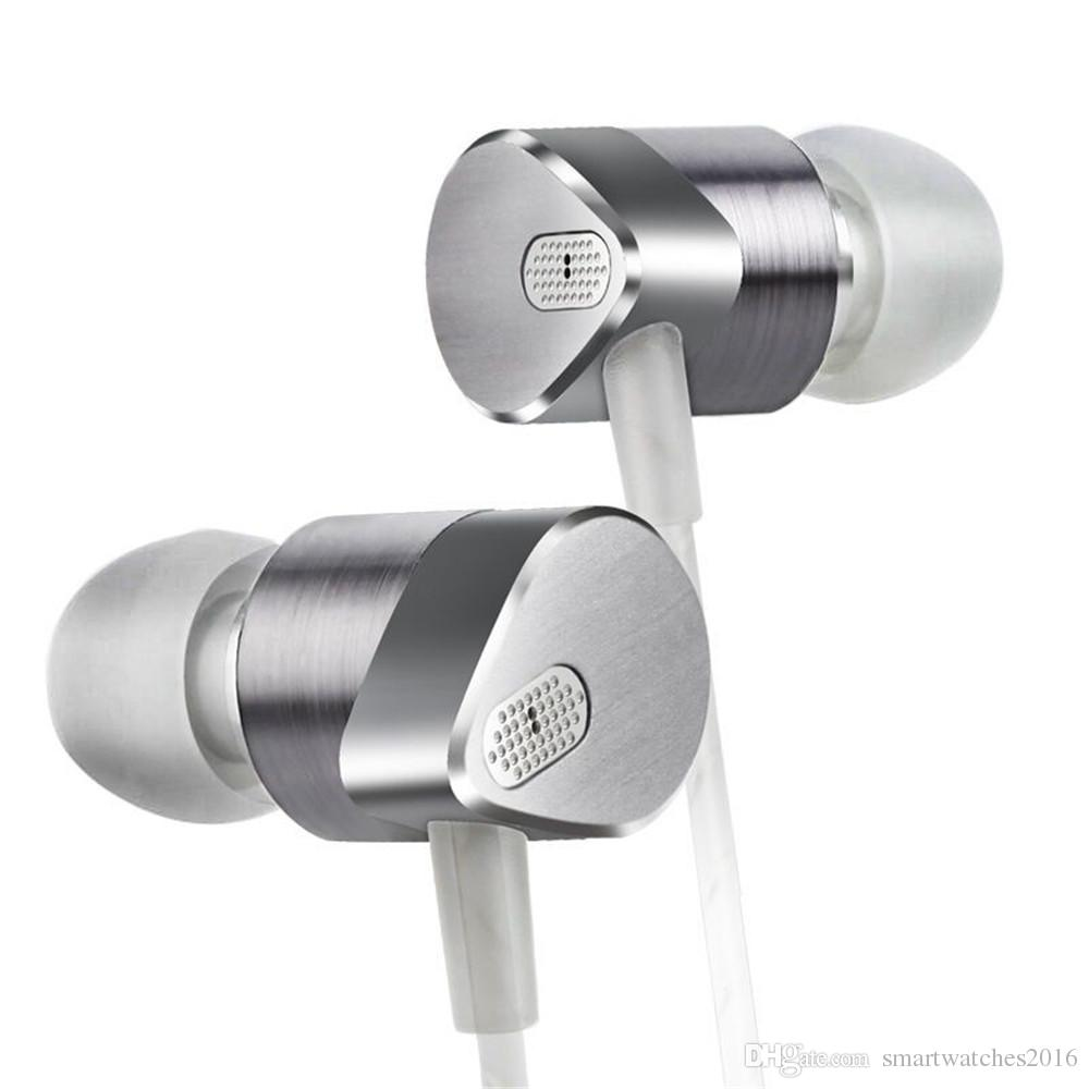 3.5mm Mobile phone headset Hybrid Dynamic Earphone Aluminium Alloy Hi-Fi Wired Music Earphone Headset Sport headphones