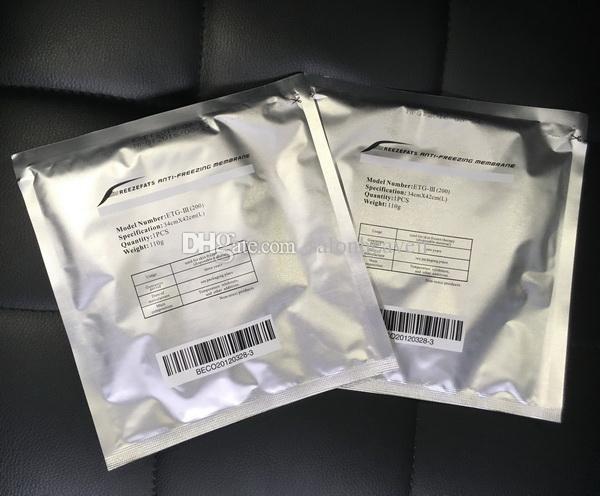 Membrana anti congelación Cryo Pad Anti feese Membranes 27 * 30/34 * 42cm Membrana antifreezcing antincreezca membrana anticongelante Cryo Membranas