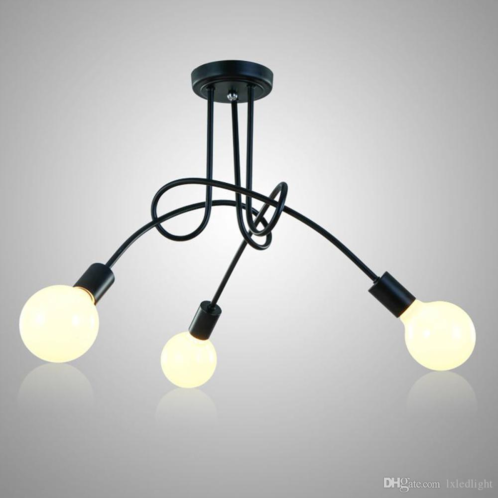 Acquista Plafoniere A LED Le Lampade Da Soggiorno Luminaria E27 ...