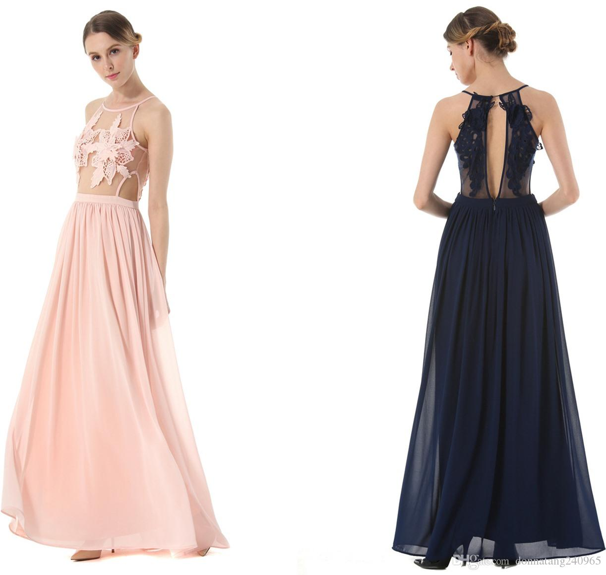 Elegant Pink Evening Dress Prom Dresses For Special Occasion Wear ...