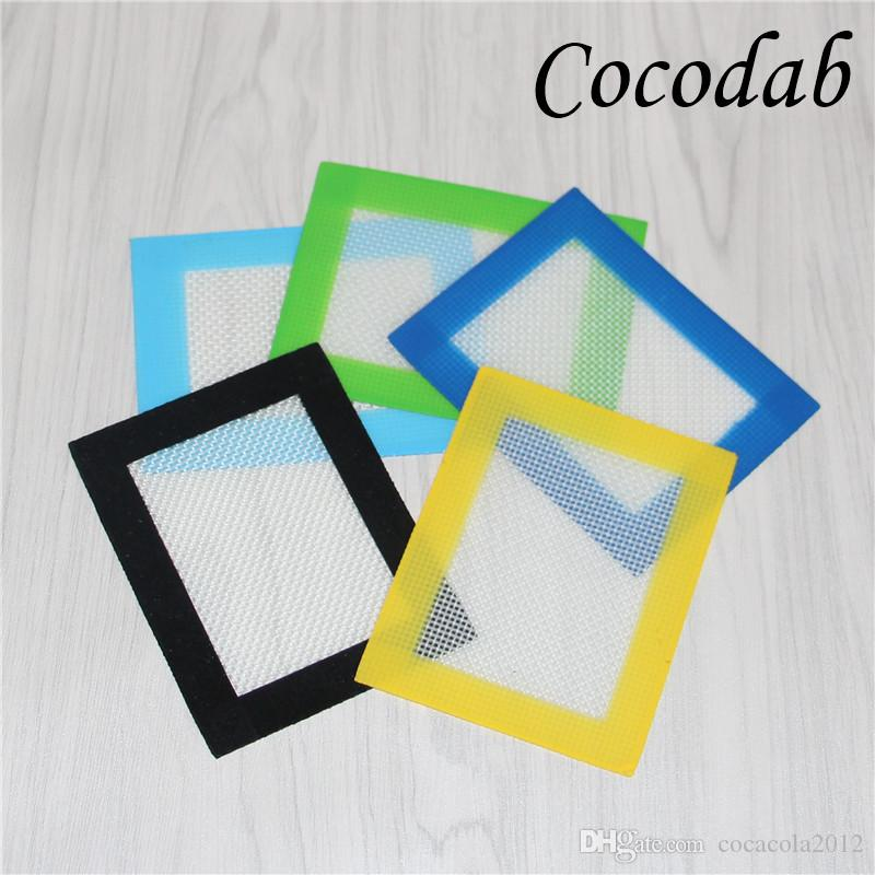 14*11.5cm dabber sheets bho concentrates wax non-stick pad silicone mats wax cutting sheet silicone fiberglass baking mat pastry DHL