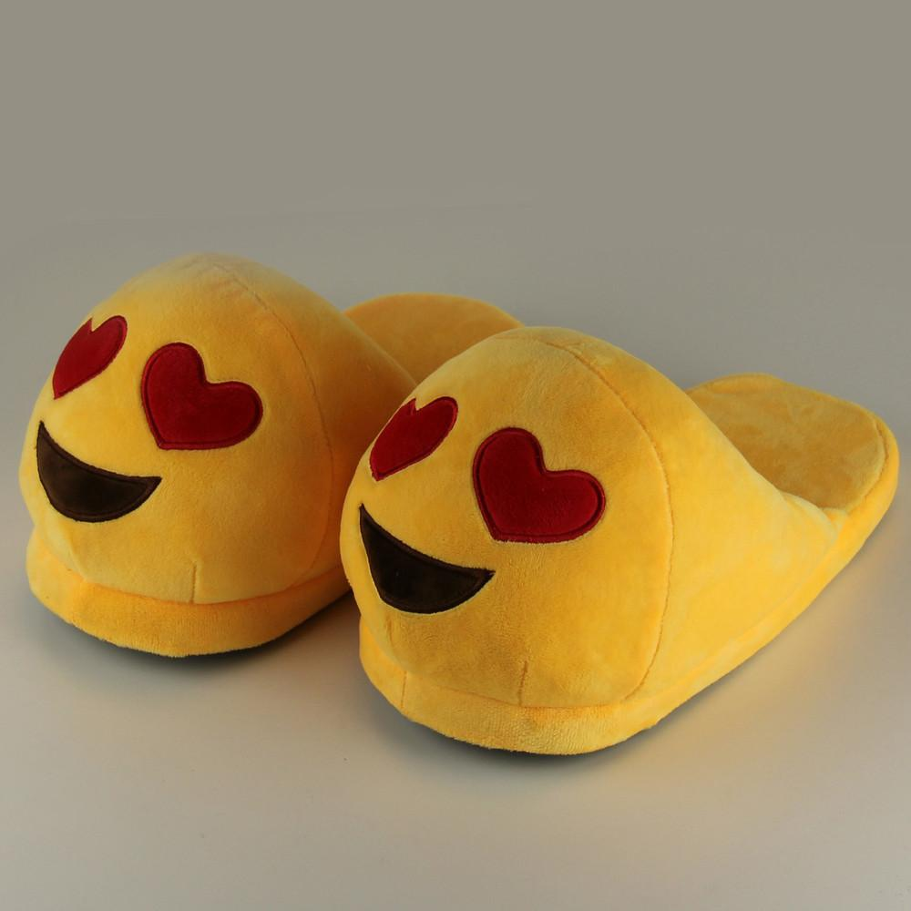6fe705e5e91 Wholesale Emoji Slippers For Women Indoor Shoes Cotton Plush Slipper Emoji  Shoes Warm Chaussons Female Winter Slippers Home Western Boots Discount  Shoes ...