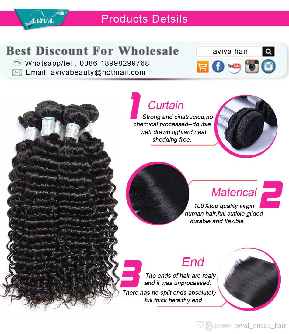 Unprocessed 8A Brazilian Curly Virgin Hair Weave Bundles Peruvian Malaysian Indian Cambodian Mongolian Deep Curly Wave Human Hair Extensions