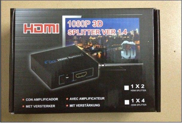 HDCP HDMI الفاصل الكامل HD 1080p الفيديو HDMI التبديل الجلاد 1X2 سبليت 1 في 2 خارج مكبر للصوت العرض المزدوج ل HDTV DVD PS3 Xbox