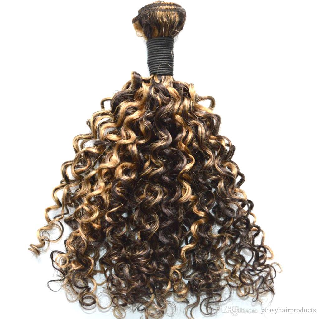 Vison Aunty Funmi Bouncy Curls Non Transformés Cheveux Humains Weave Nigérian Spiral Curl Fummi Cheveux G-EASY DHL GRATUIT