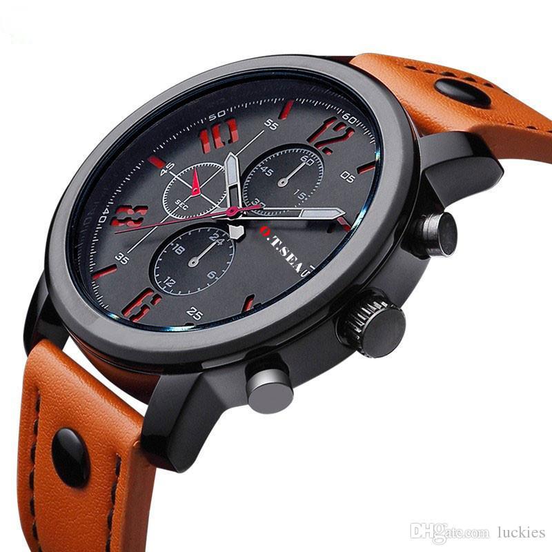 87d1965b0a5 Großhandel Retro Design Lederband Uhren Männer Analog Sport Uhren Unisex  Luxus Quarz Armbanduhr 2017 Datum Uhr Männliche Stunde Relogio Masculino  Von ...