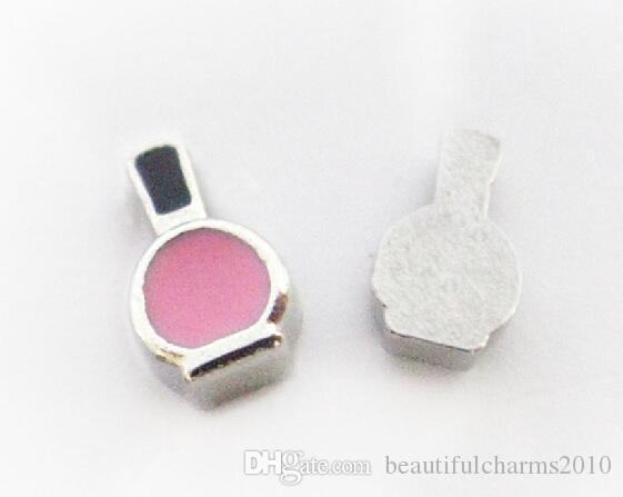 pink Nail polish bottle Floating Locket Charms Fit For Living Magnetic Memory Locket Fashion Jewelrys