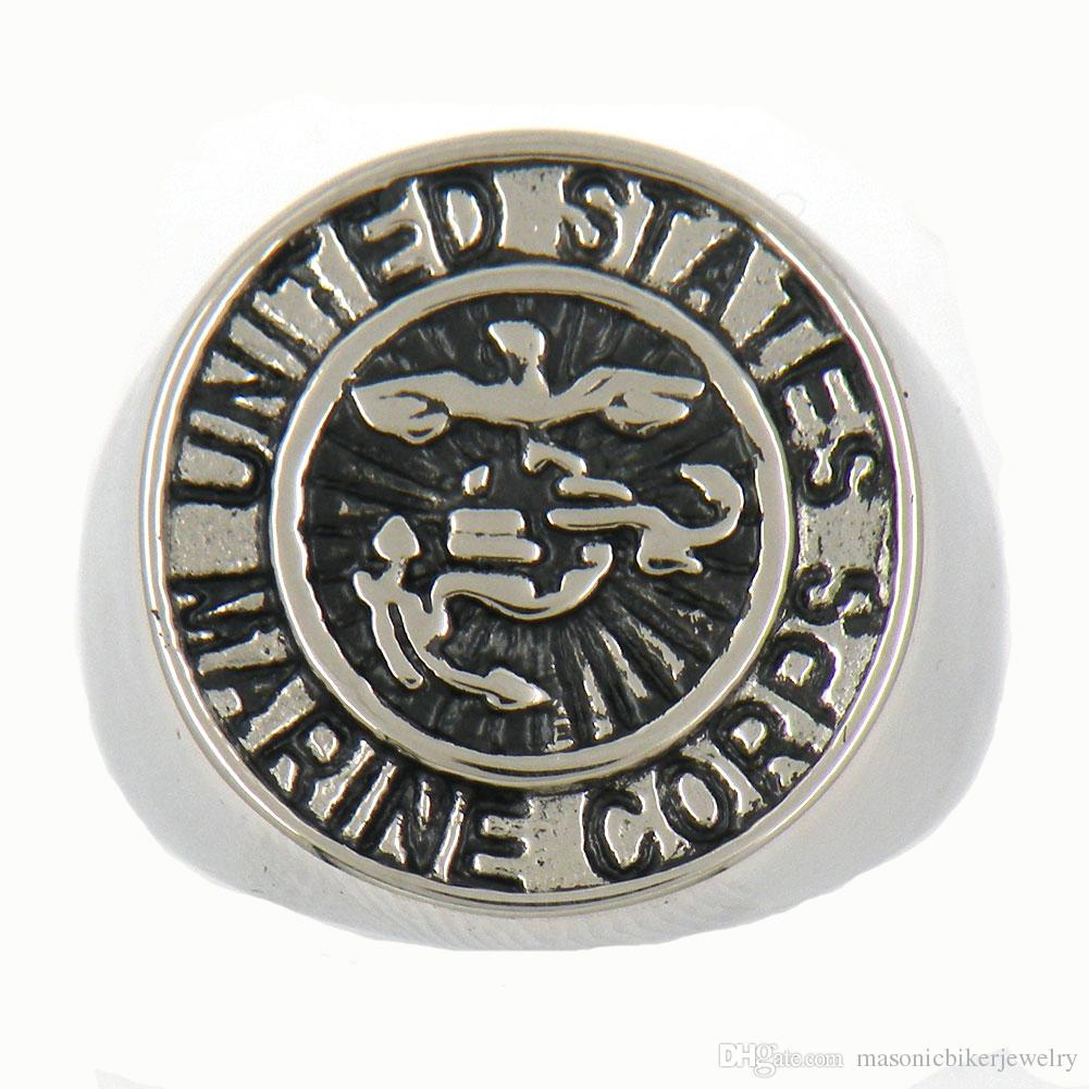 Marine Wedding Rings | Custom Made Stainless Steel Punk Vintage Mens Or Wemens Jewelry