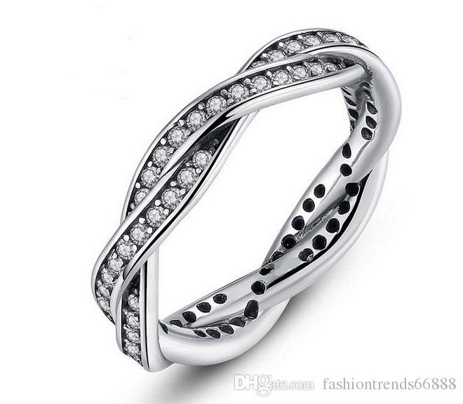 1b270e001 2016 New Fashion Elegant Pandora Ring Beautiful Wave Snake Ring Finger  Joint For Women Wedding Jewelry Set Fashion Bride Lover Jewelry Sets  Diamond Wedding ...