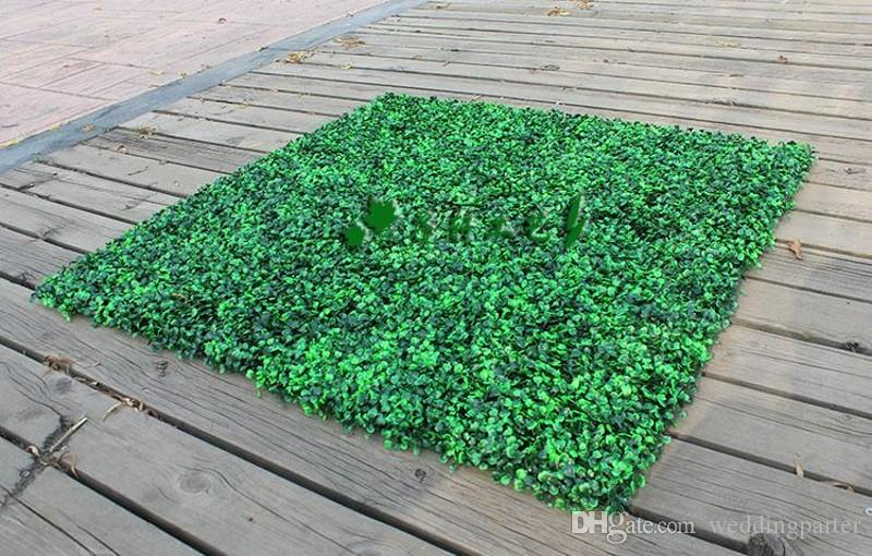 2019 25 X 25cm Artificial Grass Plastic Boxwood Mat Topiary Tree Milan For Garden Home Wedding Decoration Green Plants From Weddingparter