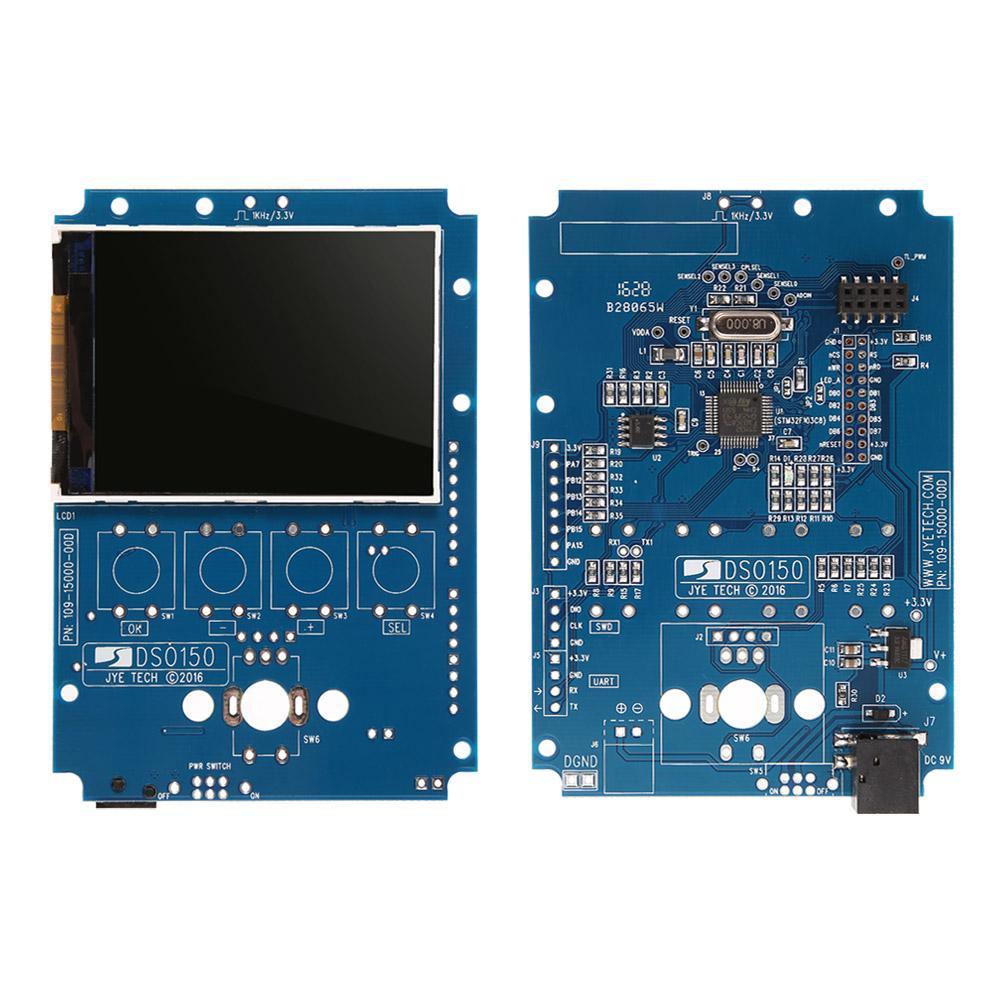 디지털 오실로 스코프 DIY 키트 부품 케이스 SMD 솔더 전자 학습 세트 1MSa / s 0-200KHz 2.4