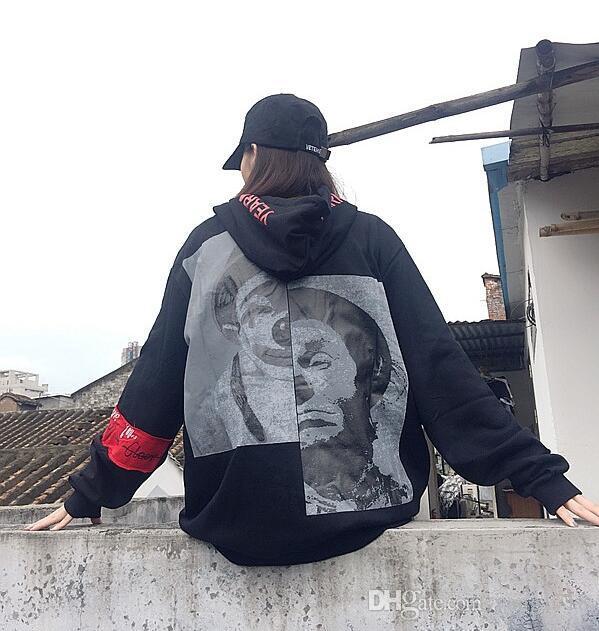Gelgit Marka harajuku hip-hop kanye west kaykay kazak yama palyaço Hoodie kol kafa erkekler ve kadınlar severler kazak hip hop