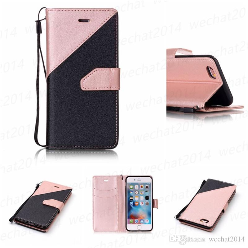 Wallet Flip PU Leather Case Stand TPU Cover With Card Slots for Samsung Galaxy S4 S5 S6 Edge S7 Edge No Package