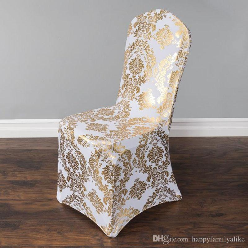 Wedding Chair Cover European Gold Stamp Chair Slipcover
