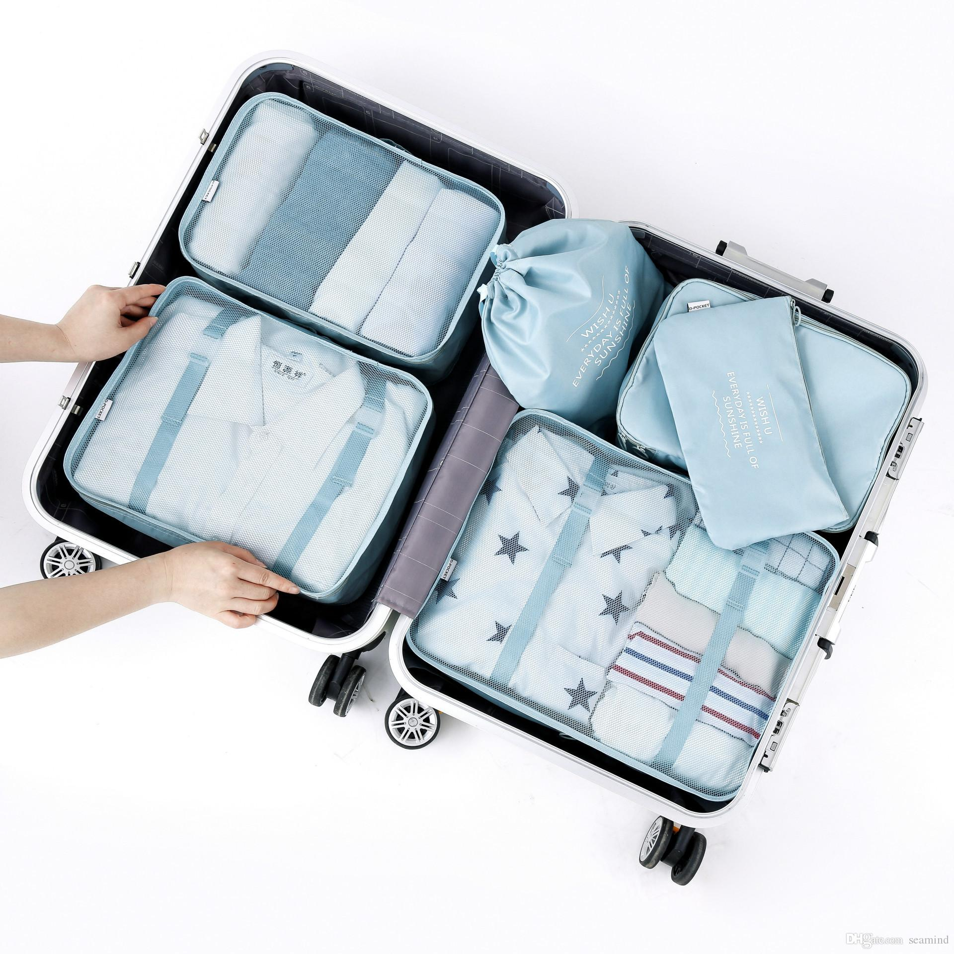 2018 Travel Suitcase Luggages Storage Bag Set For Clothes Tidy Organizer  Home Wardrobe Closet Clothing Underwear Sundries Divider Container From  Seamind, ...