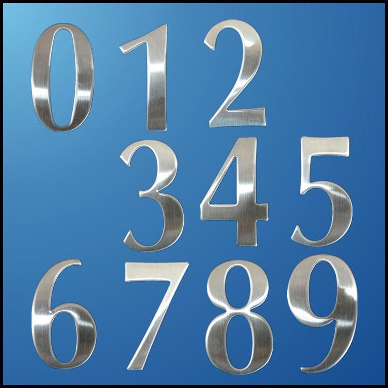 Großhandel 0 9 Moderne Hausnummern Edelstahl Zahl Ziffern Aufkleber