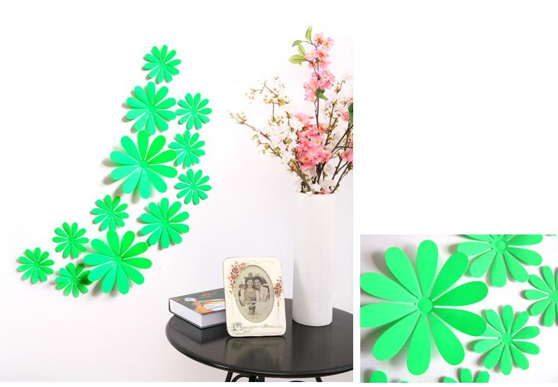 new Wholesale /bag fashion sticker Carved flowers Glue stick fridge sticker Home background corridor three-dimensional 3D Sticker Decor
