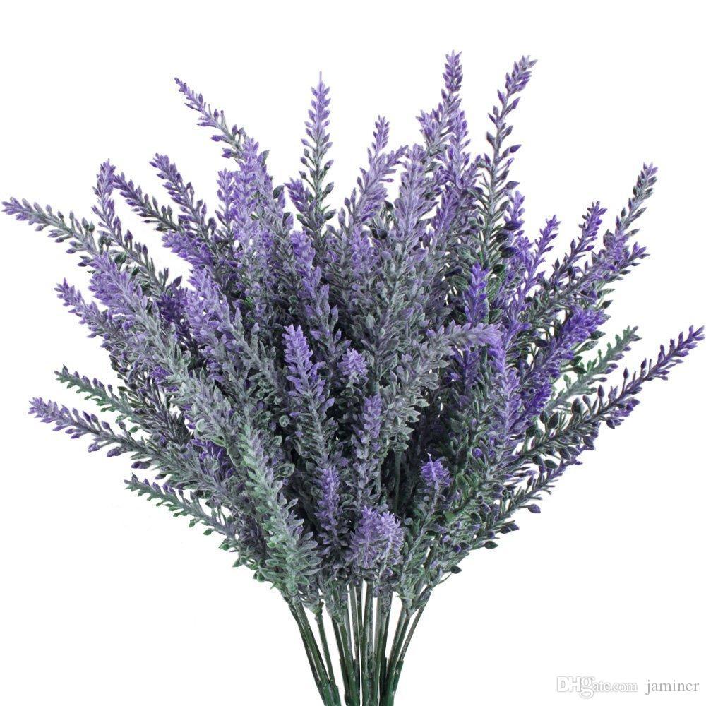 Lavendel 4pcs Kunstlich Beflockten Lavendel Bouquet In Lila Blumen Arrangements Bridal Home Diy Boden Garten Buro Hochzeit Dekor